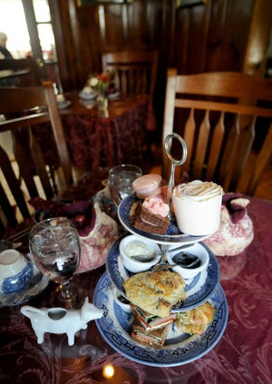 A Valentine's afternoon tea at Dunbar House Tea Room & Wine Bar in Sandwich includes finger sandwiches, fresh baked seasonal scones, pastries, fresh fruit and a pot of tea.