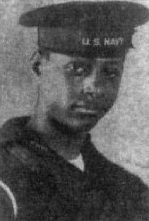 James Stephenson in his Navy uniform.