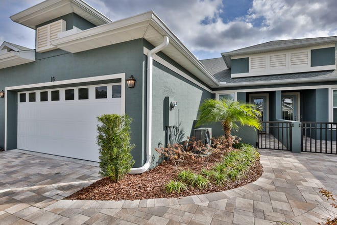 This beautiful, modern home is located in The Villas at Hunter's Ridge – a 55 and older community, where the HOA covers everything you need for a maintenance-free lifestyle.