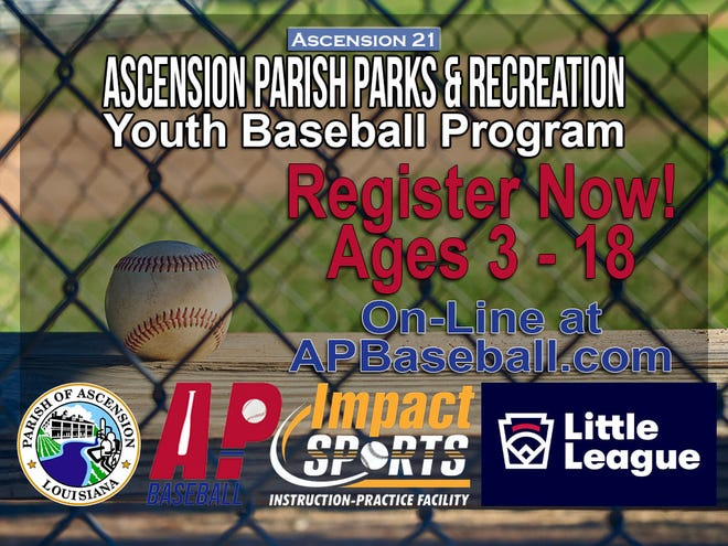 Registration is open for Youth Baseball in Ascension Parish.
