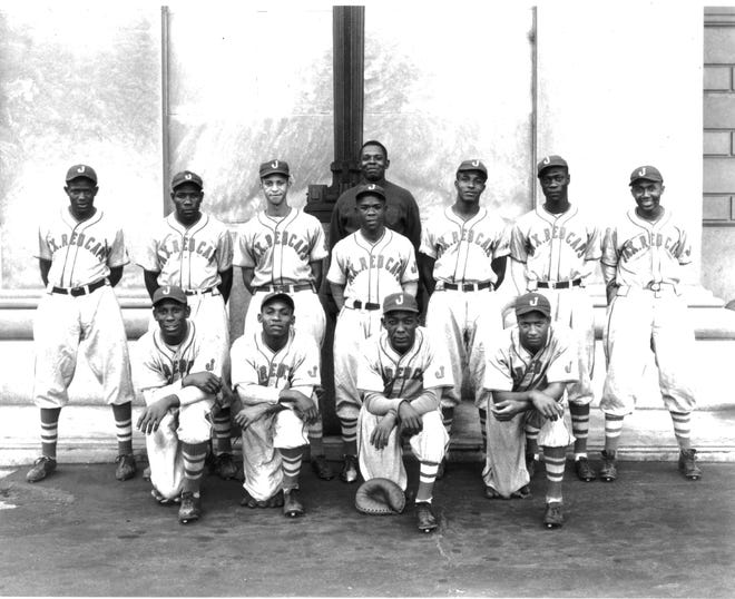 Ellie Lee Weems, a prominent African-American commercial photographer, took this undated photo of the Jacksonville Red Caps.