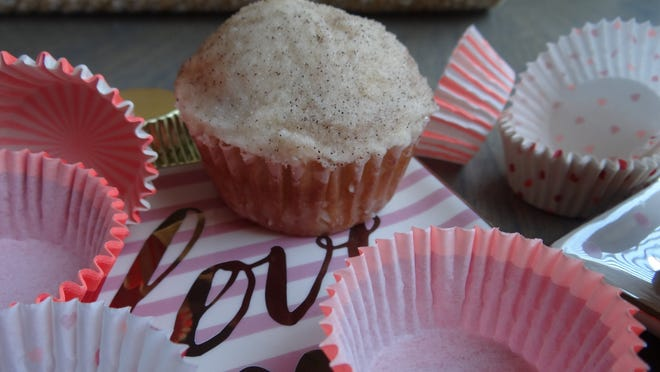 Snickerdoodle cupcakes have the same cinnamon and sugar concept as the cookies, with a touch of cream cheese in the frosting.