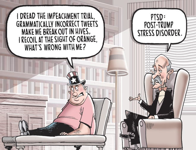 A cartoon about the post-Trump era