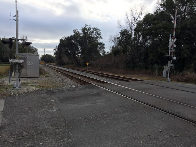 This is the area in west Ocala where a man was struck by a train and killed early Monday.