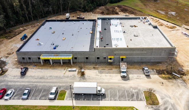 This February file photo shows work underway at the sheriff's office's new forensic and evidence building.
