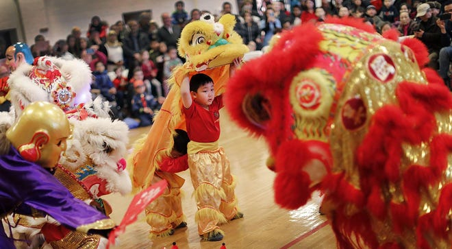 The Lion Dance is a favorite part of the Lunar New Year celebration held on Sunday, Feb. 2, 2020 in North Quincy.