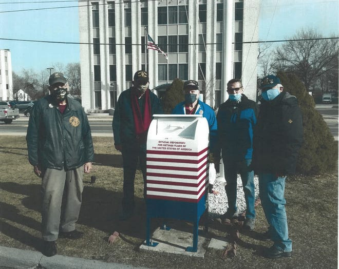 Blue Hills Regional Technical School students teamed up to repair a damaged flag disposal mailbox for the veterans of American Legion Post 86 in Braintree.