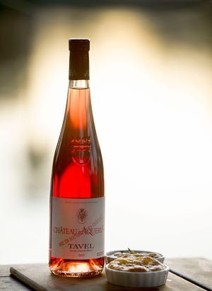 Chateau d'Aqueria Tavel, available at Hamptons Palm Beach, can be paired with quiche Lorraine.