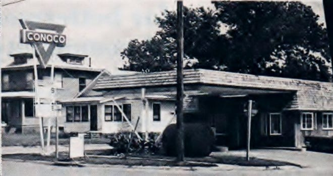 Did you know where this Conoco filling station was located?