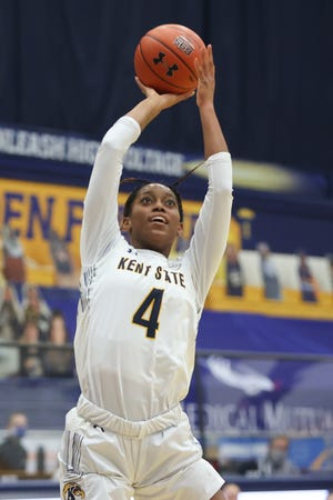 Kent State sophomore forward Nila Blackford has been named Second Team All-MAC in 2020-21.