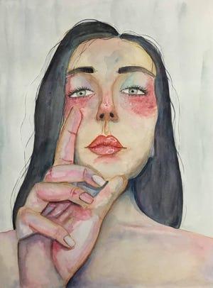 """Dreamer,"" watercolor painting by Morgan Wells."