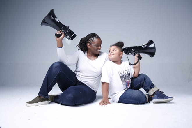 Cavanaugh Bell, 8, started his nonprofit Cool & Dope in January of 2019. Cavanaugh, pictured with his mother, Llacey Simmons, is an activist who speaks out against bullying after he experienced bullying beginning at 5 years old. Since the start of the pandemic, Cavanaugh has donated food and supplies to senior living facilities and the Pine Ridge Indian Reservation in South Dakota.