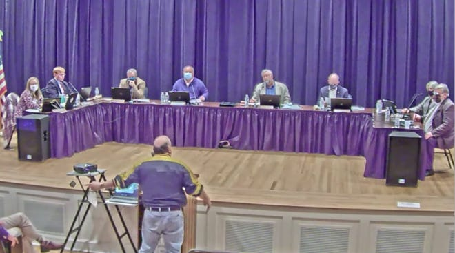 Residents address the Pender County Board of Commissioners during their Jan. 19 meeting.