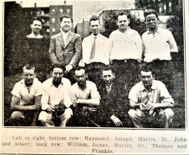 Team McNamara (with IDs), from the 1930s Item.