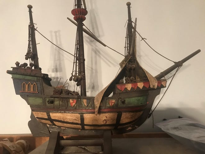 This model ship was made in Germany in the 20th century. [Submitted photo]