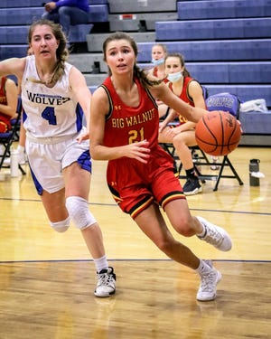 "Abby Brown has delivered a big senior season as the go-to scorer for Big Walnut, averaging 18 points through 17 games. ""She's been developing into this role the past three or four years,"" coach Jason Crawford said."