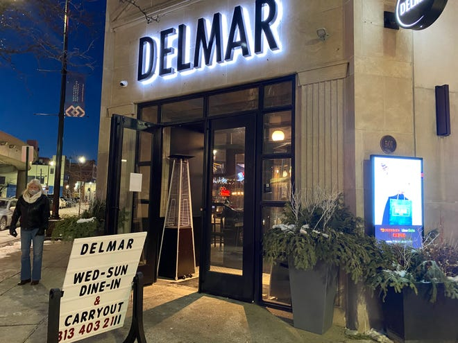 "Delmar Detroit officially opened its doors on Saturday and welcomed customers in during Super Bowl Sunday. Kenny Valentino, the manager of Delmar, said the restaurant was slow in comparison to previous years, but they're making the best out of a ""tough situation."""