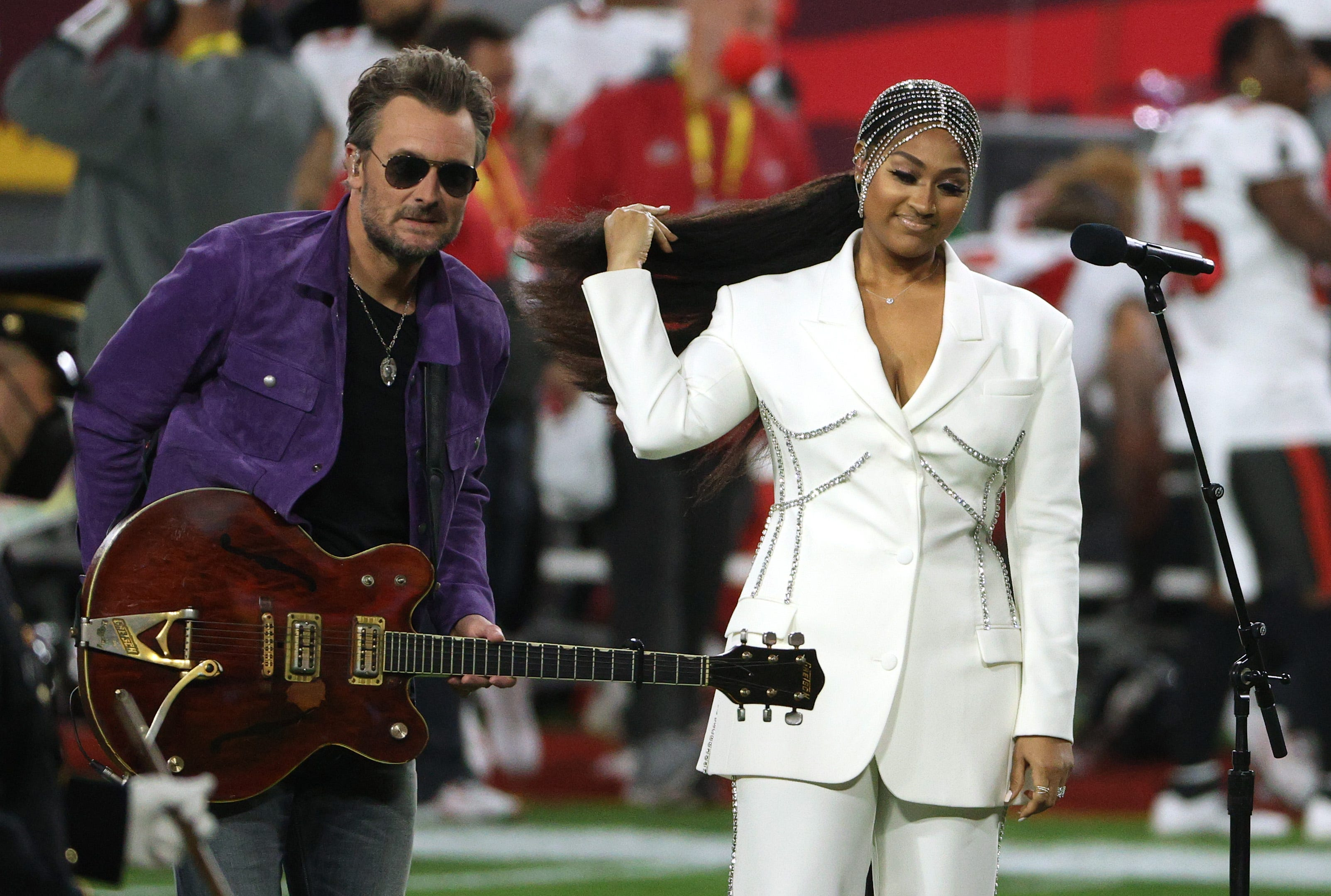Eric Church Jazmine Sullivan S Super Bowl National Anthem Speaks To Now