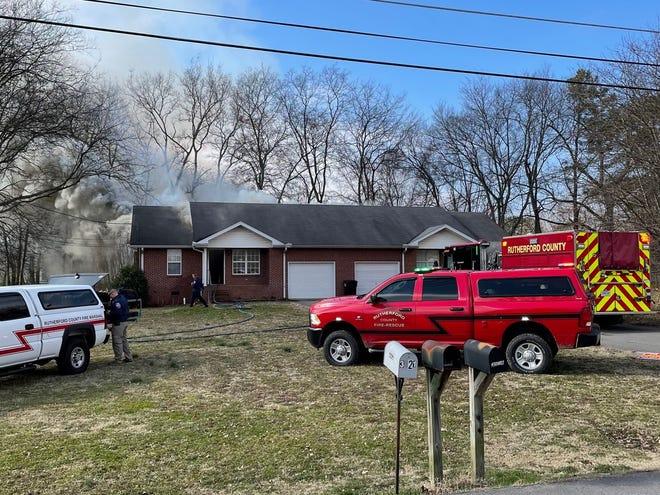A duplex fire on Cedar Street in Christiana on Monday, Feb. 8, 2021, caused minimal damage.
