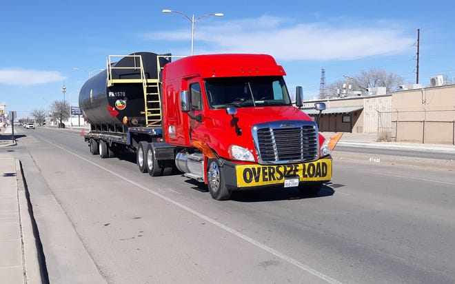 A tractor-trailer drives through Artesia on U.S. Highway 285 on Feb. 8, 2021. Work is set to start on a bypass to connect U.S. 285 in Carlsbad with U.S. Highway 62/180.