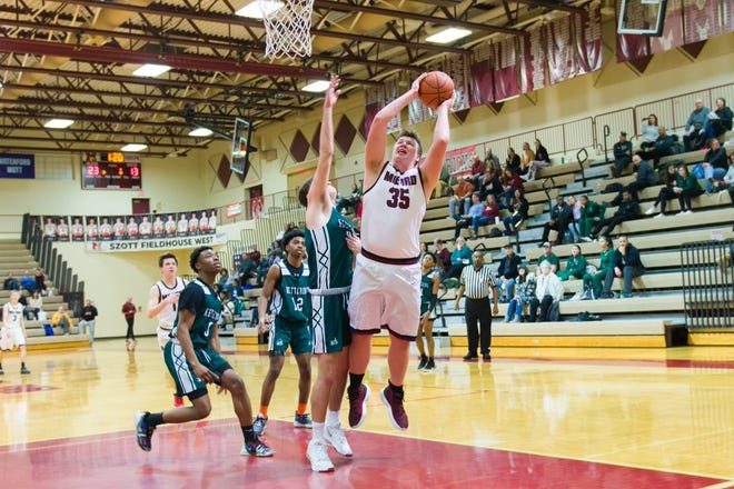 Milford senior Trevor Leigh will provide the Mavericks with a big presence in the paint in 2021.