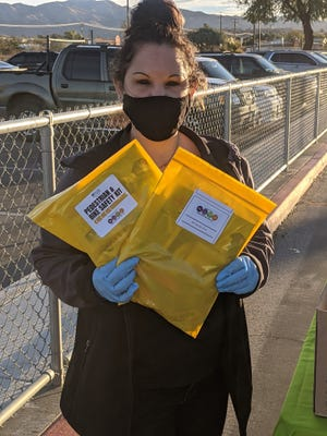 Parents driving through to pick up student meals the month of February at Desert Hot Springs schools will receive pedestrian and bike safety materials for their children.