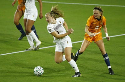 ASU junior forward Nicole Douglas scored three goals Sunday on top her two Thursday. The Sun Devils improved to 2-0 with a 4-0 win over New Mexico State at Sun Devil Stadium