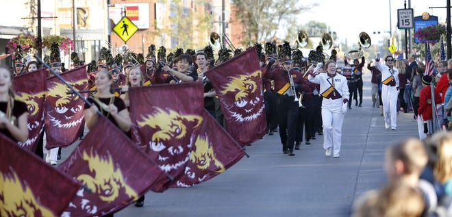 The Northern State University Marching Wolves in 2015 during the school's 100th Gypsy Day Parade. Northern is no long going to refer to homecoming week as Gypsy Days.