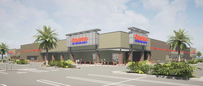 Artist's rendering of the proposed Costco along Kanner Highway in Stuart.