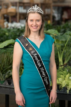 Jennifer Hinkel, 23, of Franklin, Wisconsin home, has been chosen as the 2021 American Honey Queen by the American Beekeeping Federation.