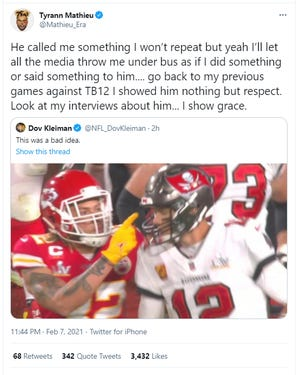 Tyrann Mathieu tweeted this and later deleted it.