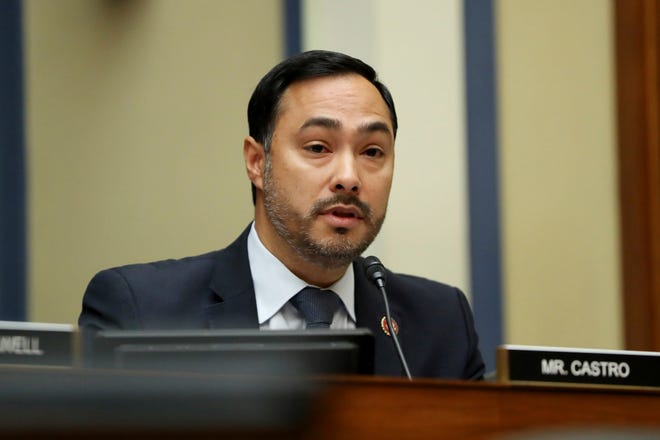 Rep. Joaquin Castro, D-Texas, questions Acting Director of National Intelligence Joseph Maguire as he testifies before the House Intelligence Committee on Capitol Hill in Washington, Sept. 26, 2019.