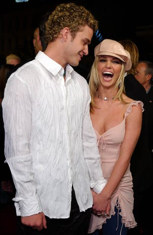 Musical artists Justin Timberlake and Britney Spears dated in the early aughts.