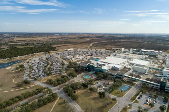 The Samsung plant in northeast Austin on February 4.