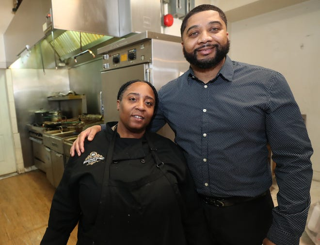LaCole Suddeth-Odums, owner of Breakfast In Bed By LaCole, and Tommy Cherry, owner of Smack Yo Mamma, share space on East Market Street for the businesses, which offer carryout and delivery.