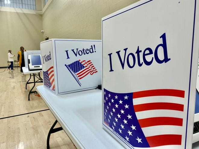 Voting booths stand ready to be used at Riverview Park Activities Center during the North Augusta municipality GOP primary Tuesday.