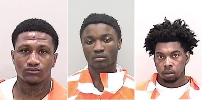 From left: Ashston Rouse, Devonte West and Rahim Brown were arrested and charged in the death of Daytron Merriweather.