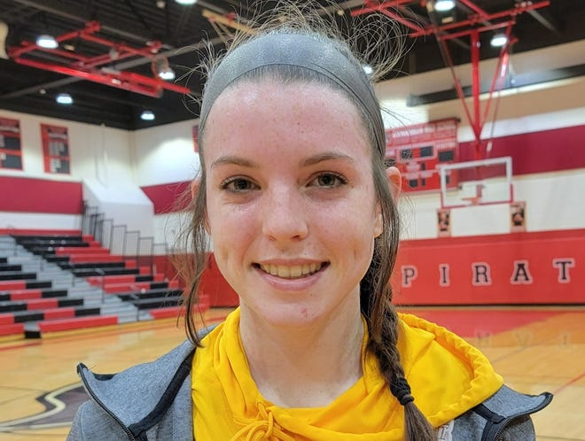 Delran sophomore Riley Ahrens is a guard for the 2021 Bears girls basketball team.