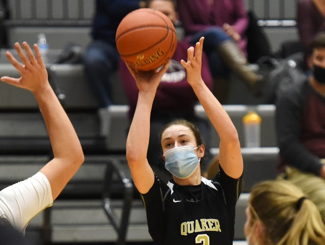 Quaker Valley's Bailey Garbee takes a shot against Beaver earlier this year. Garbee and the Quakers will meet Beaver for the third time this season in Friday's WPIAL Class 4A championship game.
