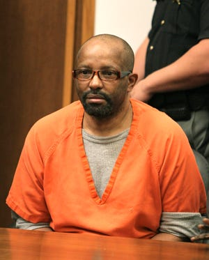 Anthony Sowell sits in the courtroom before the jury recommended the death penalty Wednesday, August 10, 2011 in Cleveland.