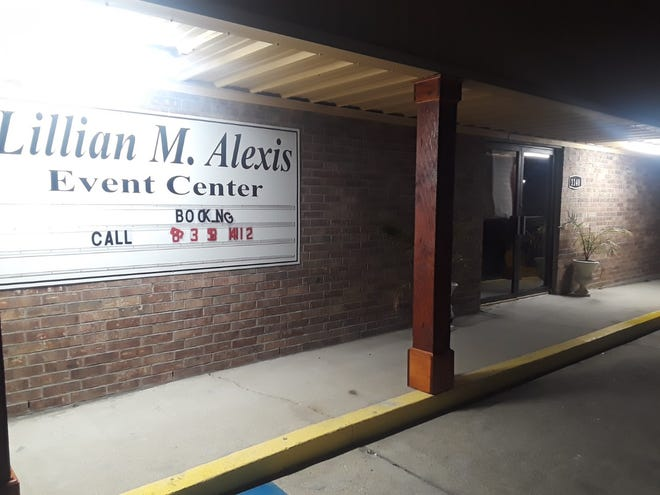 The Lillian M. Alexis Event Center in Thibodaux, where authorities said Saturday's shooting occurred.