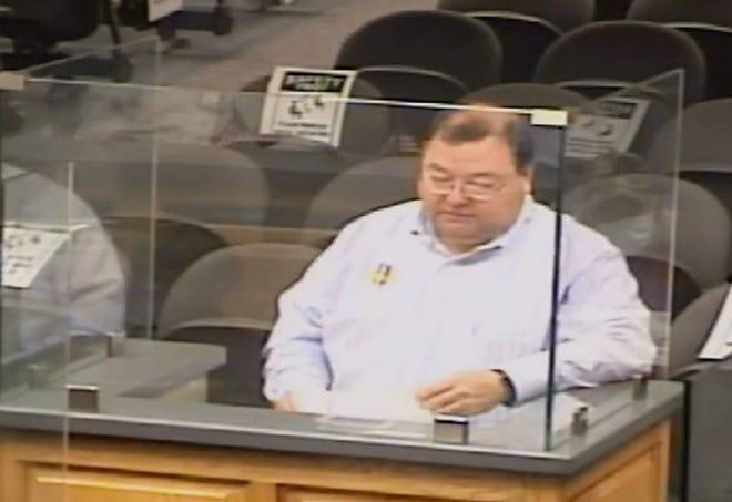 Terrebonne Emergency Preparedness Director Earl Eues addresses the parish council Monday night.
