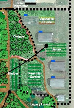The community orchard project is a part of a larger agroforestry plan on the campus that will provide fruit, peace and tranquility, while educating students and the community on unique tree and shrub species and cultivars. Ninety-seven trees and shrubs of many different varieties are in the plan to be planted.