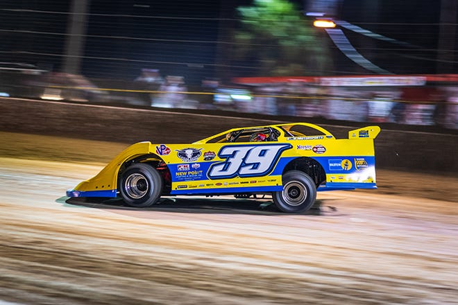 Tim McCreadie won Monday night's DIRTcar Late Models feature race at Volusia Speedway Park, Feb. 8, 2021.