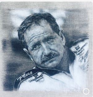 Marvin Miller of Ormond Beach submitted this pencil drawing  that his son, Ken Miller, did of Dale Earnhardt in 2002.