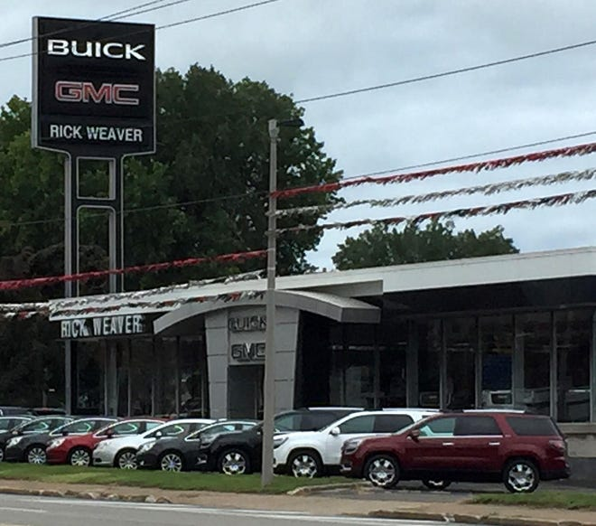 The Rick Weaver Buick GMC dealership at 714 W. 12th St. in Erie, which Adam J. Weaver owned before his fraud conviction in federal court in Erie in 2017.