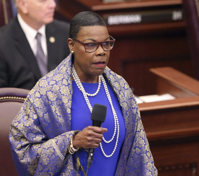 Sen. Audrey Gibson of Jacksonville, pictured during the 2019 legislative session, is co-sponsoring bills with Rep. Tracie Davis, D-Jacksonville, to set standards for instructing officers on excessive use of force among other things.