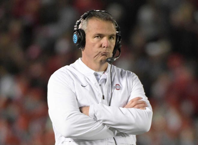 Urban Meyer looks on during his final game as Ohio State head coach on Jan. 1, 2019. Meyer has begun assembling his new staff in Jacksonville.