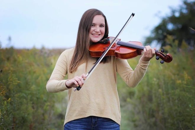 Orion High School junior Maggie Nedved was selected for the Illinois Music Education Association's senior orchestra in 2021.