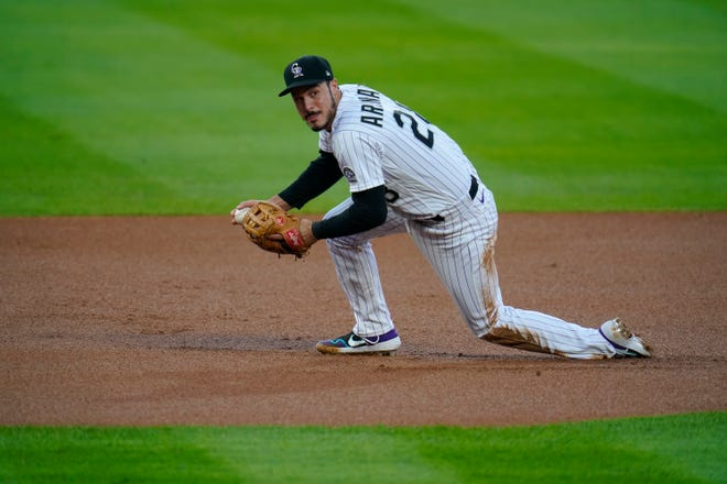 The St. Louis Cardinals recently acquired Nolan Arenado (28) from the Colorado Rockies, and they stole the superstar third baseman from the Rockies for pennies on the dollar. Colorado chipped in $50 million in the trade.